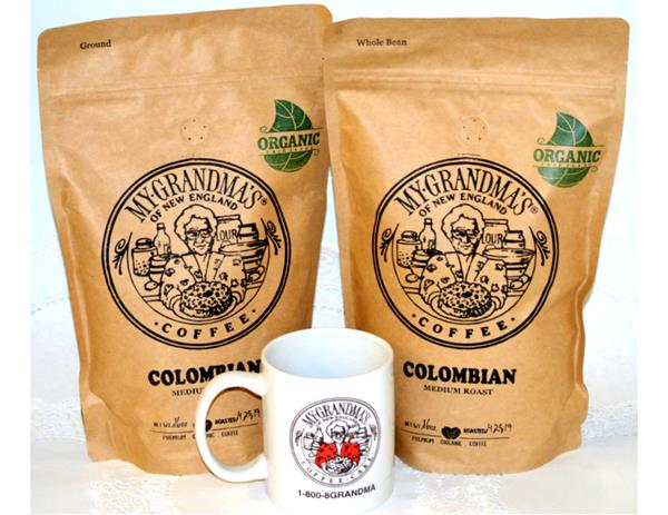 WITH THE PURCHASE OF A CAKE, try our COLOMBIAN ground or whole bean COFFEE